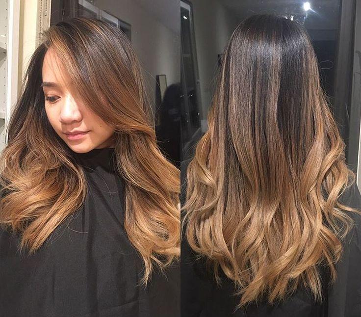 Омбре на кончиках волос
