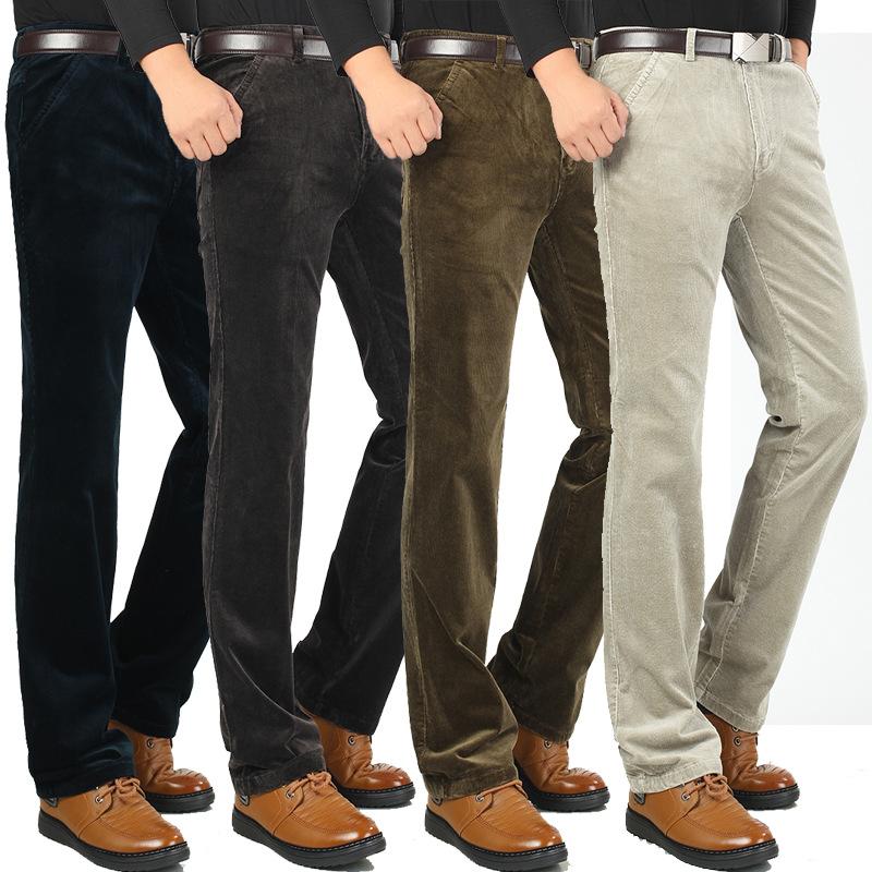 Вельветовые брюки для полных мужчин